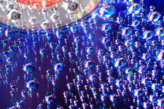 1 liggande vatten för cd diskettdroppe Royaltyfri Bild