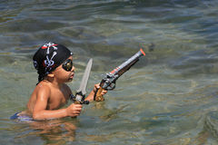 #1.The Little Pirate goes to attack royalty free stock photos