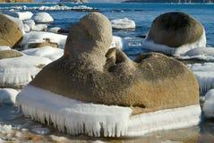 (1) lodowi kamienie Fotografia Royalty Free