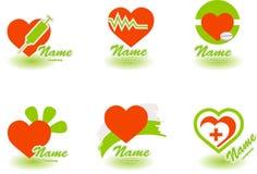 1 logo d'hôpital Photo stock