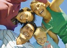 1 lyckliga familj Arkivbilder