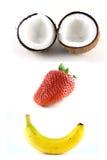 1 lyckliga frukt Royaltyfri Bild