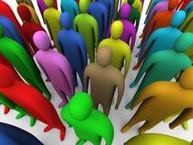 1 mångfärgade folkmassa Fotografering för Bildbyråer