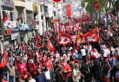 1. Mai in Istanbul Lizenzfreie Stockbilder