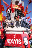 1. Mai in Istanbul Lizenzfreies Stockbild