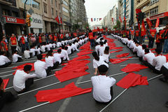 1. MAI IN ISTANBUL Stockbild