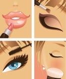 1 makeup Arkivfoto