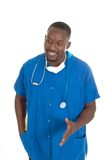 1 male sjuksköterska för doktor Arkivbild