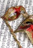 1 maskowa muzyki Zdjęcia Royalty Free