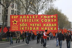 1 May in Taksim, Istanbul Royalty Free Stock Photo