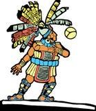 1 mayan basebollspelare vektor illustrationer