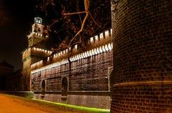 1 medeltida natt för slott Royaltyfri Fotografi