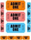 1 medger en tickets royaltyfri illustrationer