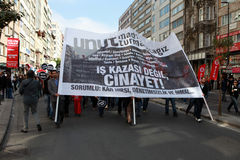 1 MEI IN ISTANBOEL Royalty-vrije Stock Afbeelding