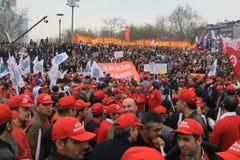 1 Mei in Taksim, Istanboel Royalty-vrije Stock Fotografie