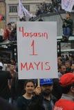 1 Mei in Taksim, Istanboel Royalty-vrije Stock Afbeelding