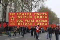 1 Mei in Taksim, Istanboel Royalty-vrije Stock Foto