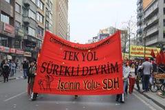1 Mei in Taksim, Istanboel Royalty-vrije Stock Afbeeldingen