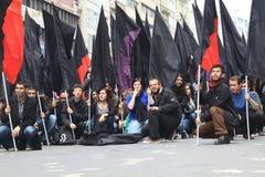 1 Mei in Taksim, Istanboel Stock Foto's