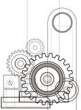 1 mekanism vektor illustrationer