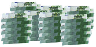 1 milhão euro Fotos de Stock Royalty Free