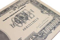 1 Million Dollar-Banknote lizenzfreie stockbilder