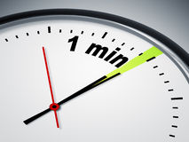 1 min. An image of a nice clock with 1 min Stock Image