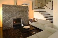 1 moderna livingroom Fotografering för Bildbyråer
