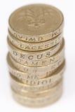 (1) monety jeden funt Obrazy Stock