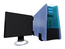 1 monitora lcd serwer obj. Obrazy Stock