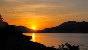 1 montenegro ingen solnedgång Arkivbild