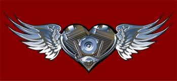 1 motorheartvektor Royaltyfri Fotografi