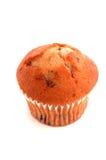 1 muffin över white Arkivfoto