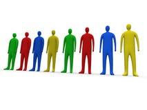 1 multicolor люд иллюстрация вектора