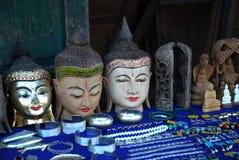 1 myanmar shoppar souvenir Arkivbild