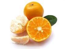 1 Naranja-Aislado fotografía de archivo libre de regalías