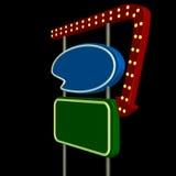 1 neon retro znak Obraz Royalty Free