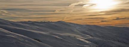 1 nevada toppig bergskedjasolnedgång Fotografering för Bildbyråer