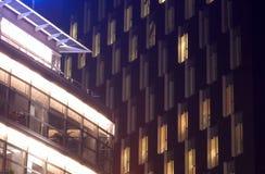 1 night office Στοκ φωτογραφία με δικαίωμα ελεύθερης χρήσης