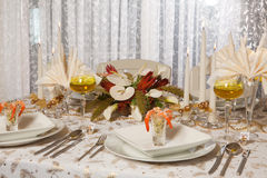 (1) obiadowy elegancki stół Fotografia Royalty Free