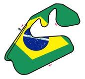 1 obwodu Brazylijskie wzór royalty ilustracja