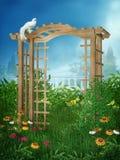 (1) ogrodowa wiosna ilustracji