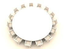1 okrągłego stołu Obraz Royalty Free