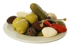 1 olive tapa Royaltyfri Fotografi