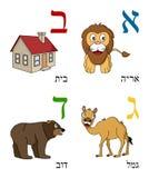 εβραϊκά κατσίκια 1 αλφάβητ&omic Στοκ Φωτογραφία