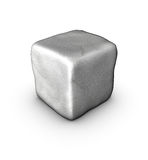 1 one 3d singular cobble stone on white Royalty Free Stock Images