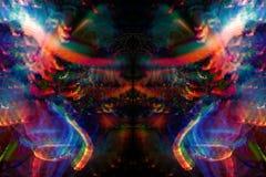 1 optiska målning för bakgrundsfiberlampa Royaltyfri Fotografi