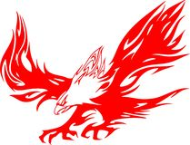 1 orła atacking płomieni Obraz Royalty Free