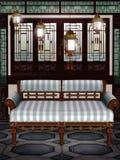 (1) orientalny pokój royalty ilustracja