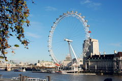 1 öga london Arkivfoto